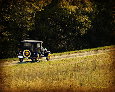 Madison County Back Roads-ford Poster by Kathy M Krause