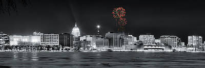 Madison - Wisconsin - New Years Eve Fireworks 3 Poster