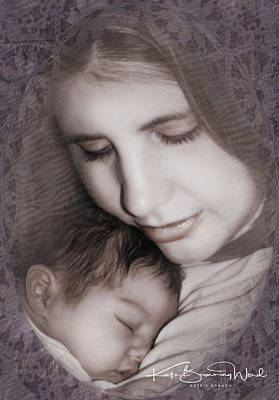 Poster featuring the photograph Madonna And Child 3 by Kate Word