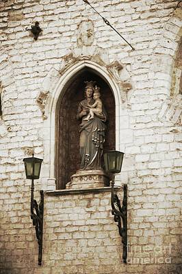 Madonna And Child Alcove Statue In  Belgium Poster by Carol Groenen