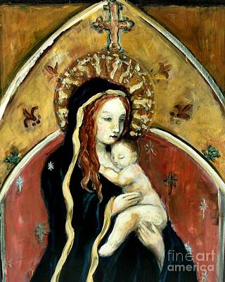 Madonna And Child Poster by Carrie Joy Byrnes