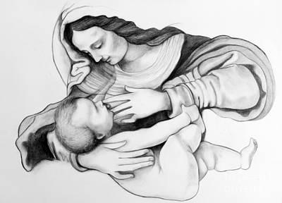 Madonna And Christ Poster by Gabriela Junosova