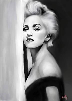 Madonna Bad Girl Black And White Poster Wall Art Print 36/'/' 47/'/'