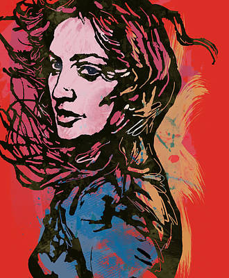 Madonna Pop Stylised Art Sketch Poster Poster by Kim Wang