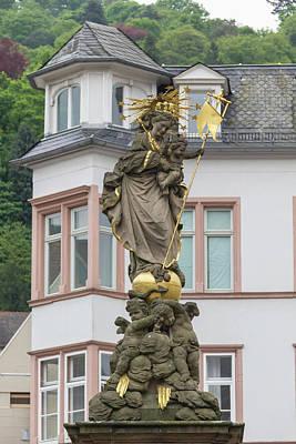 Madonna Statue Heidelberg Germany Poster by Teresa Mucha