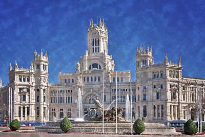 Madrid City Hall Poster by Joan Carroll