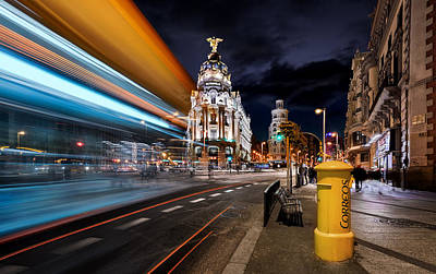 Madrid City Lights IIi Poster by Jes?s M. Garc?a