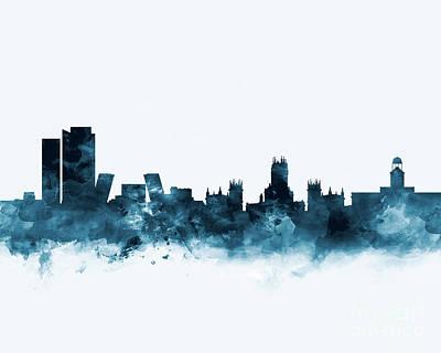 Madrid Skyline Poster