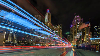 Poster featuring the photograph Mag Mile Warp Speed by Sean Foster