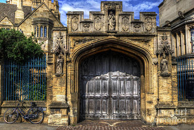 Magdalen College Door - Oxford Poster