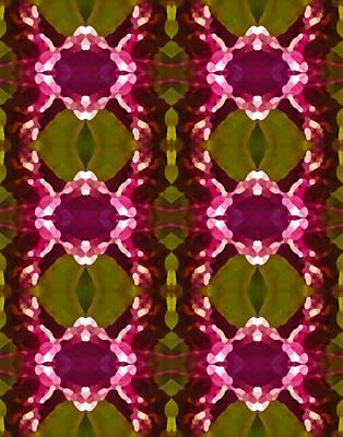 Magenta Crystal Pattern Poster by Amy Vangsgard