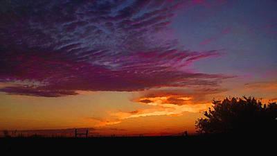 Magenta Morning Sky Poster