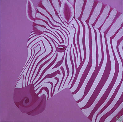 Magenta Zebra Poster