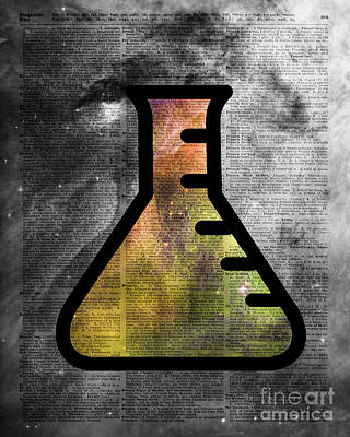 Magic Alchemy Vial Over  Dictionart Art Poster by Jacob Kuch