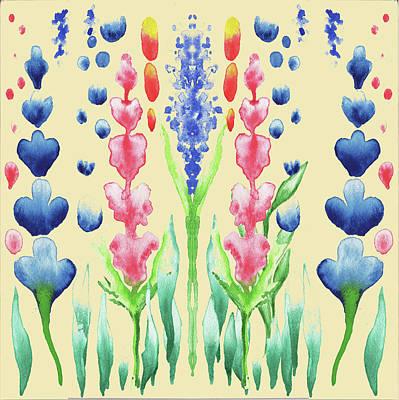 Magic Garden Flowers Watercolor Garden Magic Poster