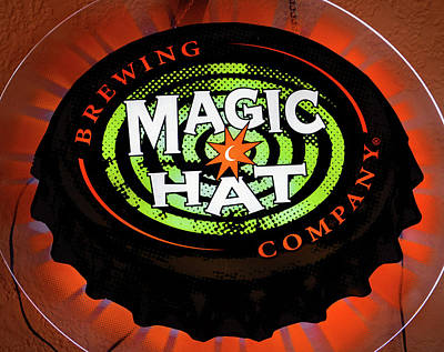 Magic Hat Neon Beer Sign Poster by David Lee Thompson