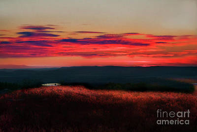 Magic Hour At Dolly Sods On Canyon Rim Trail Poster