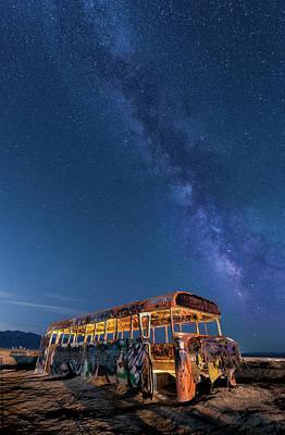 Magic Milky Way Bus Poster