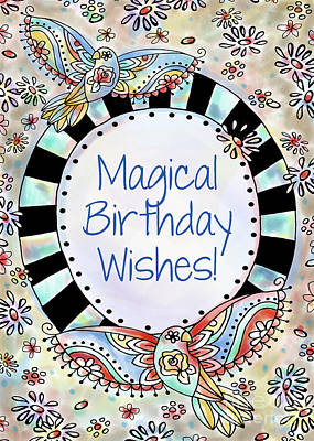 Magical Birthday Wishes Poster