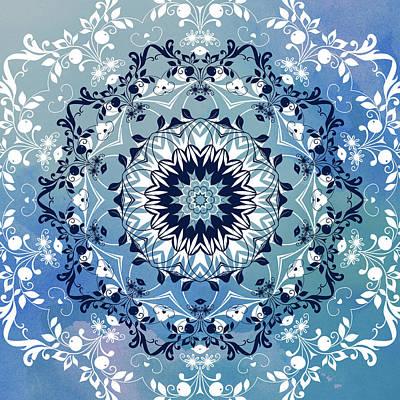 Magical Floral Mandala  Poster