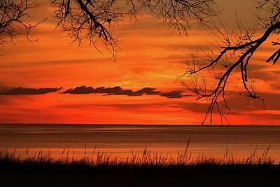 Magical Orange Sunset Sky Poster