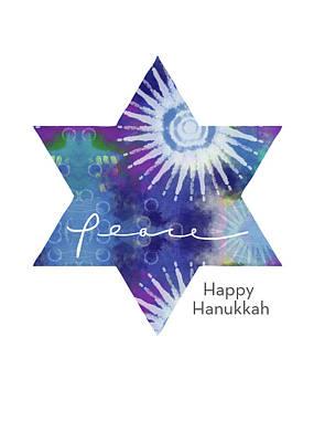 Magical Peaceful Hanukkah- Art By Linda Woods Poster