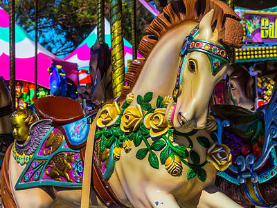 Magical Wild Carrousel Horse Poster by Garry Gay