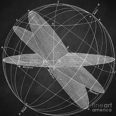 Magnetic Fields Chalkboard Poster by Edward Fielding