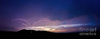 Magnificent Sunset Lightning Poster