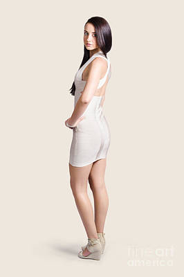 Magnificent Woman In White Dress. Fashion Photo Poster by Jorgo Photography - Wall Art Gallery