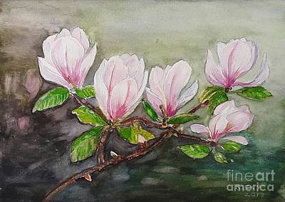 Magnolia Blossom - Painting Poster by Veronica Rickard