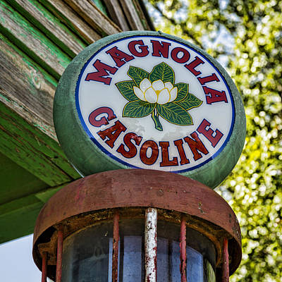 Magnolia Gasoline Poster by Stephen Stookey