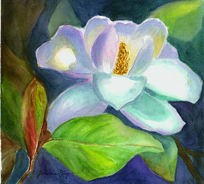 Poster featuring the painting Magnolia by Jeanne Kay Juhos