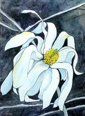 Poster featuring the painting Magnolia by Lynn Babineau