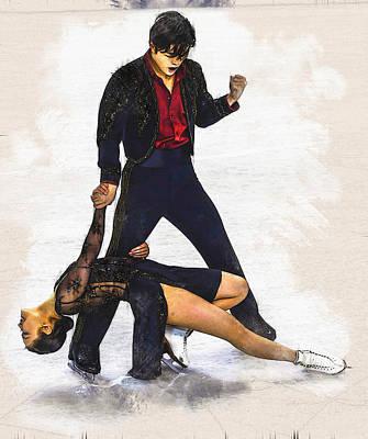 Maia Shibutani And Alex Shibutani  Poster by Don Kuing