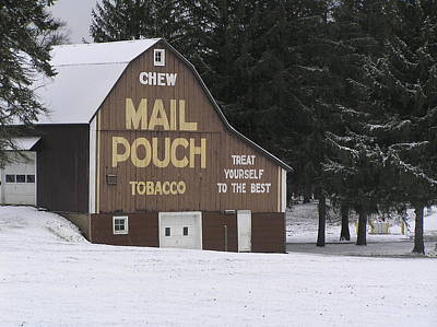 Mail Pouch Barn Poster by Jeanette Oberholtzer