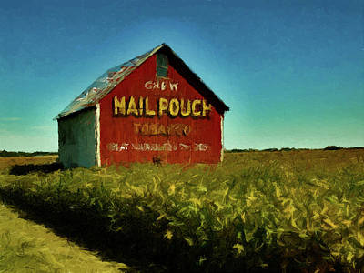 Poster featuring the painting Mail Pouch Barn P D P by David Dehner