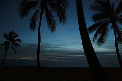 Ma'ili Beach After Sunset Poster