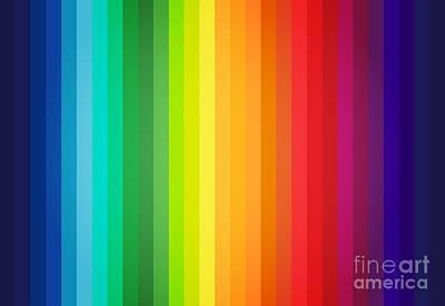 Main Colors Palette Spectrum Poster by Radu Bercan
