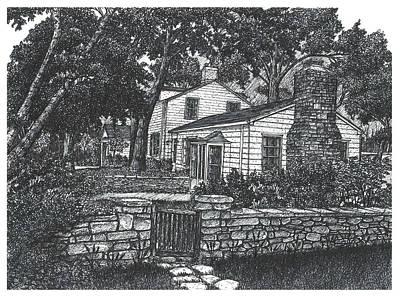 Main House At Scotsdale Farm, Halton Hills, Ontario Poster