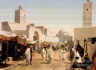 Main Street And Mosque Poster by Celestial Images