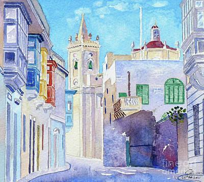 Main Street Balzan Malta Poster