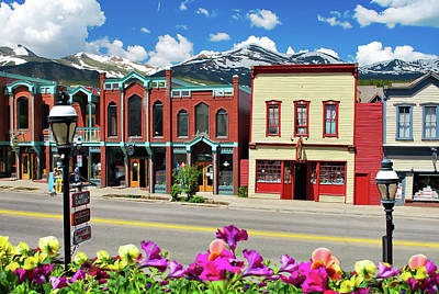 Poster featuring the photograph Main Street - Breckenridge Colorado by Gregory Ballos