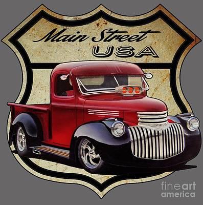 Main Street, Usa Pickup Poster