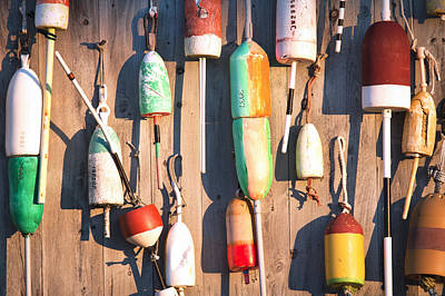 Maine Buoys At Sunrise Poster by Eric Gendron