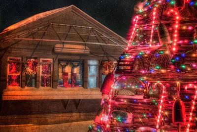 Maine Christmas Scene Poster