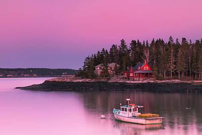 Maine Five Islands Coastal Sunset Poster