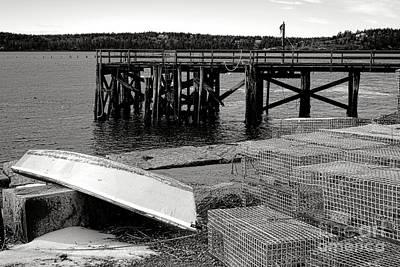 Maine Harbor Scene Poster