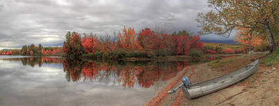 Maine Lake In Autumn Poster