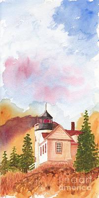 Maine Lighthouse In Morning Light Poster